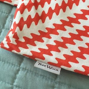 TreeWool Accents - Orange Kaleidoscope Pillow Covers